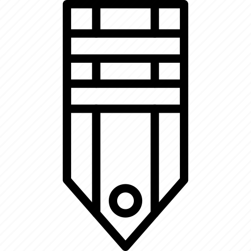 badge, military, rank, stripe, tag, two icon