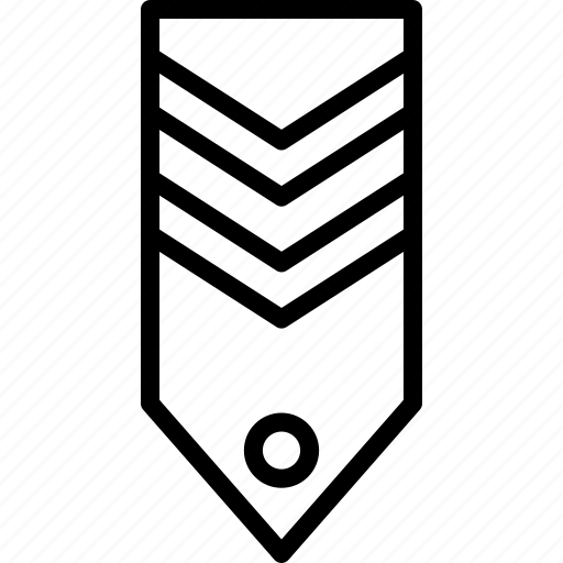 badge, military, rank, stripes, tag, two icon