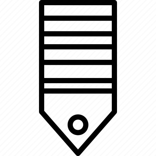 military, rank, stripe, tag, three icon