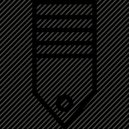 military, rank, stripe, tag, two icon