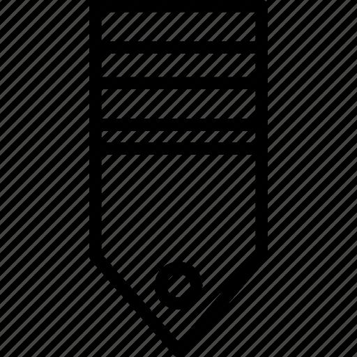 military, rank, stripes, tag, two icon