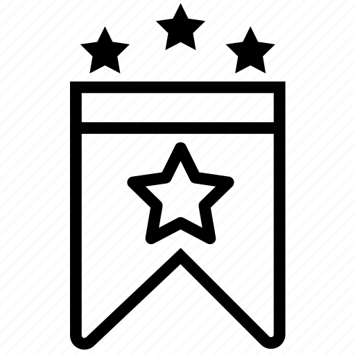 badge, decoration, insignia, stars, three icon
