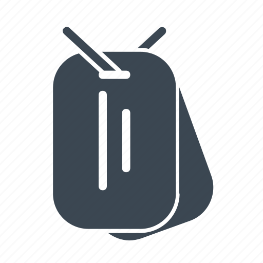 army, dog tag, military, platoon, soldier icon