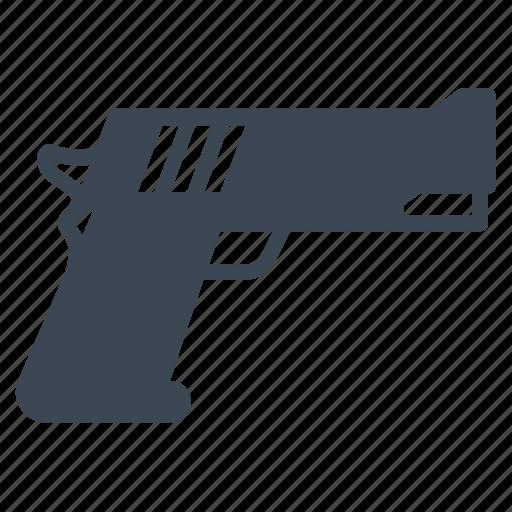 gun, military, pistol, security icon