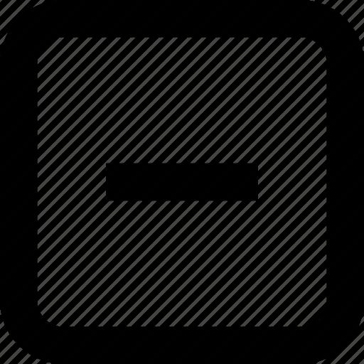 interface, mathematics, minus, remove, substract icon
