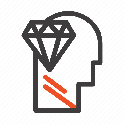Diamond, head, mind, perfection icon - Download on Iconfinder