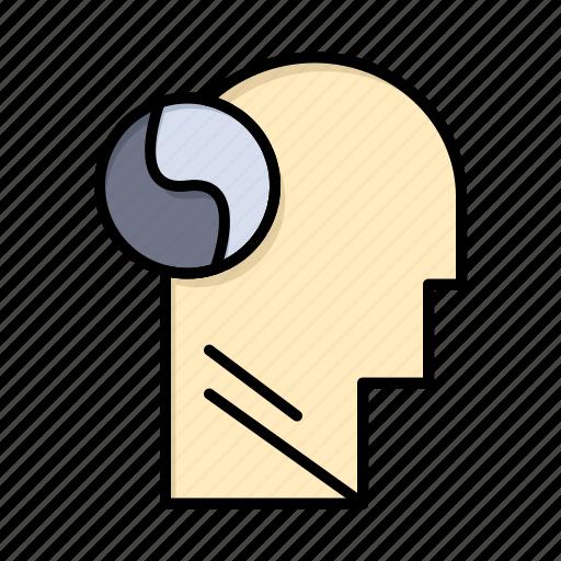 brian, head, mind, svg icon
