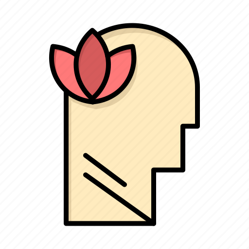 head, mental, mind, relaxatio icon