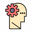 brain, learning, mind, process icon