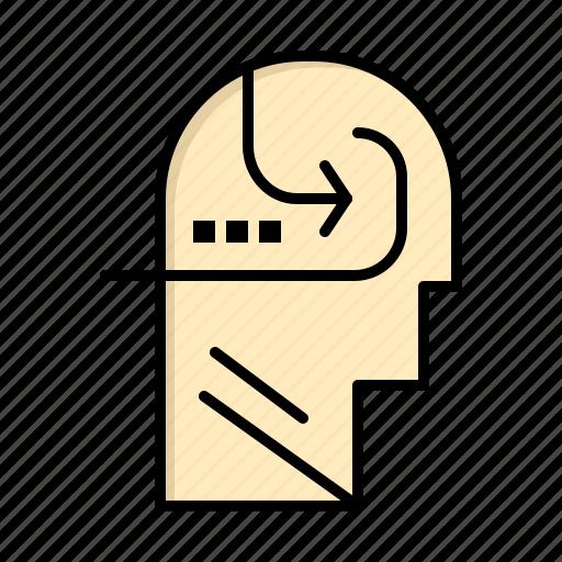 head, learning, mind, skill icon