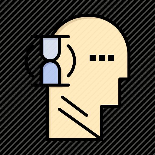 glass, male, user, wait icon
