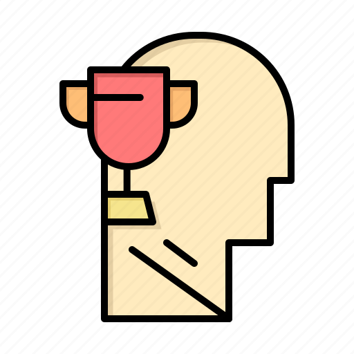 award, brian, head, mind icon