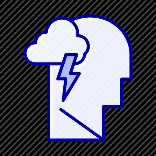 energy, mental, mind, power icon