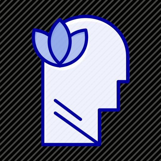 head, mental, mind, relaxatio icon