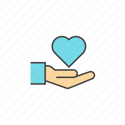 caring, charity, donation, giving, heart, love, valentine icon