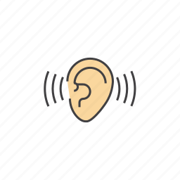 ear, listen, listen to others, listening, sound, volume icon