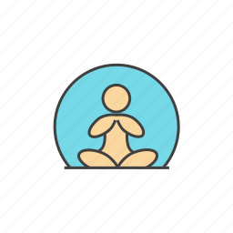calm, human, lotus, meditation, mindfulness, person, yoga icon