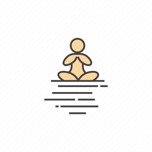 calm, lotus, lotus position, meditating, meditation, mindfulness, practice icon