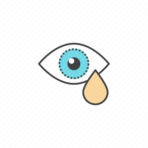 eye, eye with tear, sadness, sarrow, tears icon
