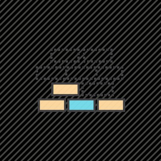 building blocks, company, connection, hierarchy, network, organization, structure icon