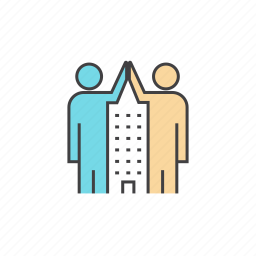 brainstorm, business, cooperation, culture, friendly, high five, working together icon