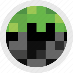 block, build, game, gaming, minecraft, video icon