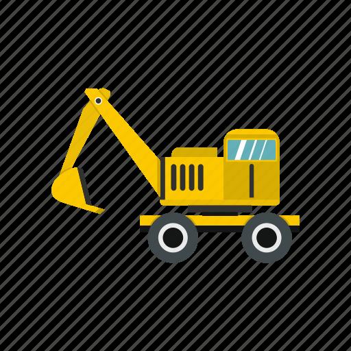Digger, equipment, excavator, heavy, machine, mover, work icon - Download on Iconfinder