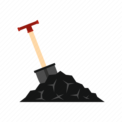 coal, energy, instrument, metal, mineral, shovel, tool icon