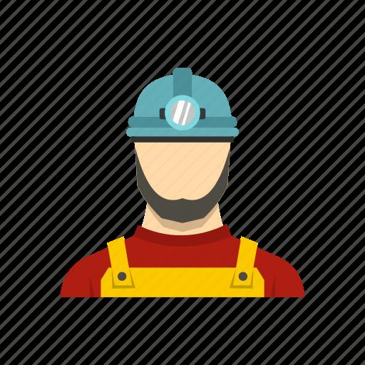coal, design, male, miner, mineral, mountain, underground icon