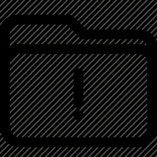 alert, file, folder, interface, warning icon