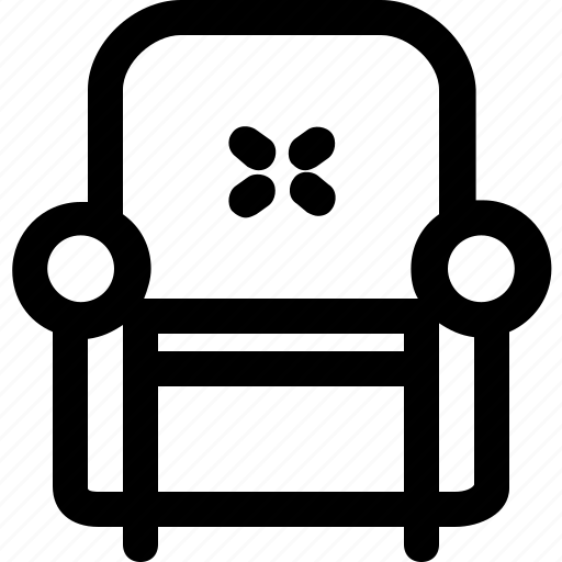 armchair, fabric, leather, livingroom icon
