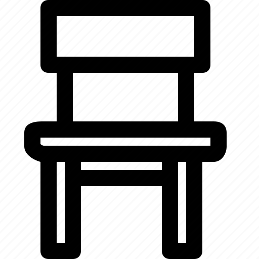 chair, front, furniture, wooden icon