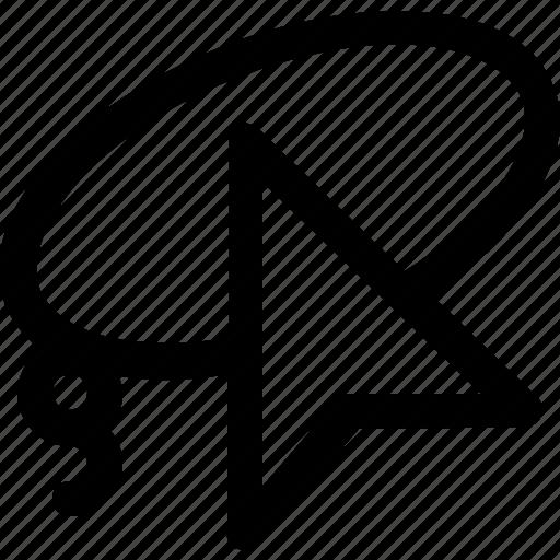 design, graphic, lasso, line, pointer, tools icon