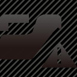 alert, folder icon