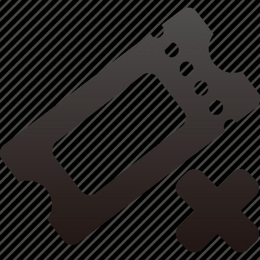 remove, ticket icon