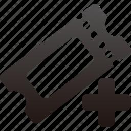 add, ticket icon