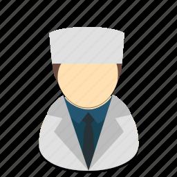 avatar, doctor, man, profession icon
