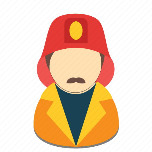 avatar, firefighter, fireman, man, profession icon