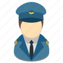 avatar, male, man, pilot, profession icon