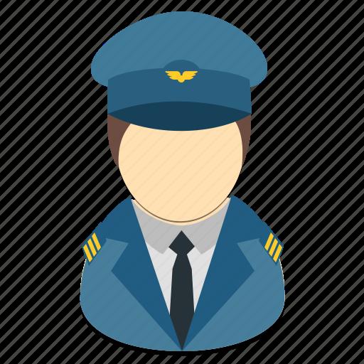 avatar, male, man, pilot, profession icon