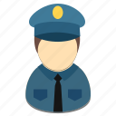 avatar, male, policeman, profession icon