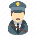avatar, male, man, person, postman, profession icon