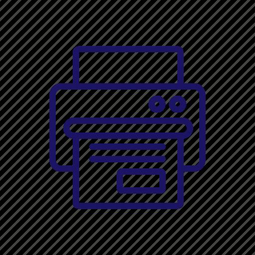 paper, plinter, tech icon