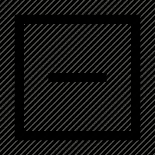 Minicons, minus, remove icon - Download on Iconfinder