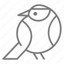 abstract, bird, line
