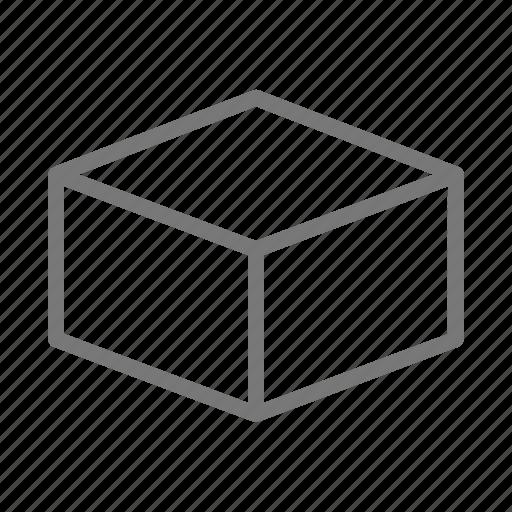box, cardboard, cube, mail, ship icon