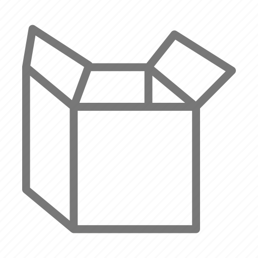 box, container, empty, move, open, pack, ship icon