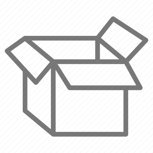 box, cardboard, container, moving, pack, packing, ship icon