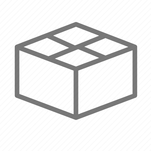 box, cardboard, container, mail, package, ship icon