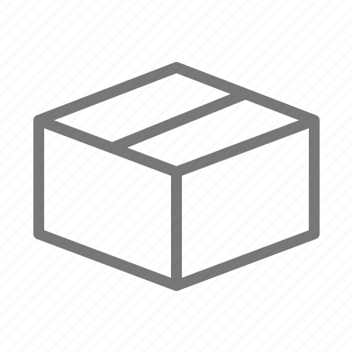 box, cardboard, delivery, mail, package, ship icon